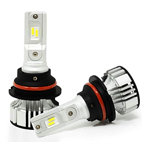 Alla Lighting D-CR 9000lm 9008 H13 LED Bulbs Xtreme Super Bright CREE LED Replace Halogen Upgrade, 6000K Xenon White