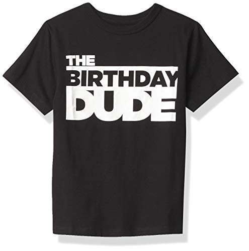 The Children's Place boys Birthday Dude Graphic Tee T Shirt, Black,...