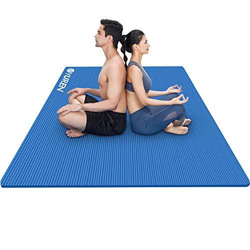 YUREN Große Yogamatte 200x130cm Breite Gymnastikmatte 10mm/15mm Dicke NBR Fitnessmatte für Pilates Gymnastik Training Bodenmatte