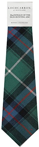 I Luv Ltd Gents Neck Tie MacDonald Of The Isles Hunting Ancient Tartan Lightweight Scottish Clan Tie