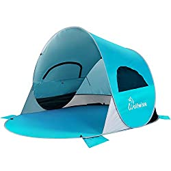 WolfWise UPF 50+ Easy Pop Up Beach Tent.