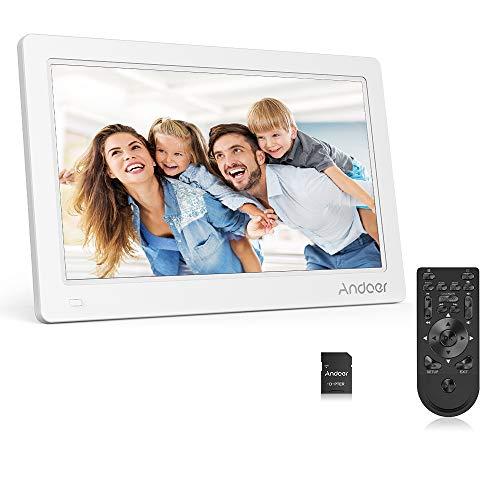 Andoer 11.6 Zoll Digital Foto Bilderrahmen FHD 1920 * 1080 IPS Bildschirm Unterstützung Kalender/Uhr / MP3 / Fotos / 1080P Video Player mit 8 GB Speicherkarte Schönes