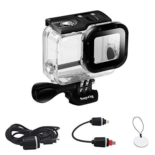 SupTig Caso Repuesto Funda Resistente al Agua Carcasa Protectora para GoPro Hero 6GoPro Hero 5Deporte cámara para Uso bajo el Agua Carga Resistente al Agua hasta 164ft (50m)