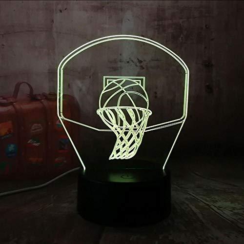 Layyqx 3D basketbal Hoop Sport Decoratie voor het huis LED illusies USB Touch 7 kleur veranderende lamp nachtlampje kinderen jongens cadeau