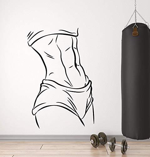 Tianpengyuanshuai Muskel Mädchen schönen Körper Vinyl Wandtattoo Bodybuilding Club Home Dekoration Wandaufkleber 45X68cm