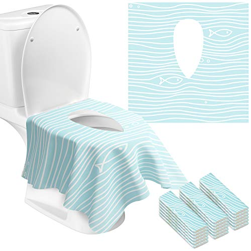 Gimars Full Cover Disposable Travel Toilet Potty Seat Covers - Individually Wrapped Portable Potty Shields for Adult,The Pregnant,Kids and Toddler...