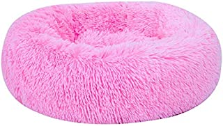 Apostasi Pet Calming Bed Shag Donut Cuddler Plush Cats Dog Sleeping Mat Winter Comfortable Bed for Deluxe Pet Bed for Cats...