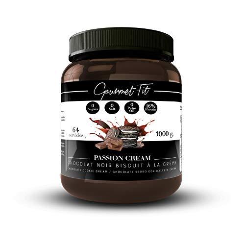 Protein Aufstrich cream Low-carb ohne Zucker und Palmöl | Perfekt für ein Proteinfrühstück mit Keksen oder als gesunder Snack | 1KG-Format Unglaublicher Geschmack (Choco-Kekse)