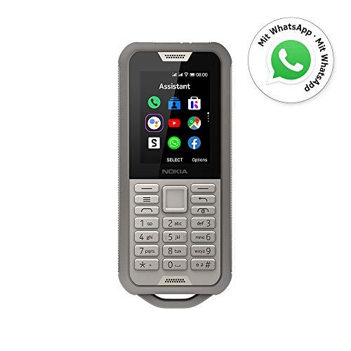 Nokia 800 Tough Outdoor Handy (6, 1cm (2, 4 Zoll), Dual-SIM, 4G LTE, Kaios) Sand, Camouflage Design
