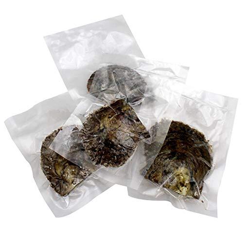 YYW Ostras cultivadas de agua dulce con perla en el interior Wish y perlas redondas de colores mezclados de la suerte en total 50 unidades/lote (7-8 mm)