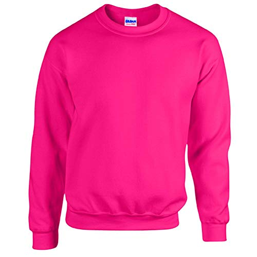 Gildan - Heavy Blend Sweatshirt / Safety Pink, L