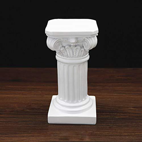 Aifeer Römische Säule griechische Säule Statue aus Kunstharz Ständer Figur Skulptur Sandtisch Spieldekoration Innen Außen Haus Garten Dekoration 20 cm, Polyresin, weiß