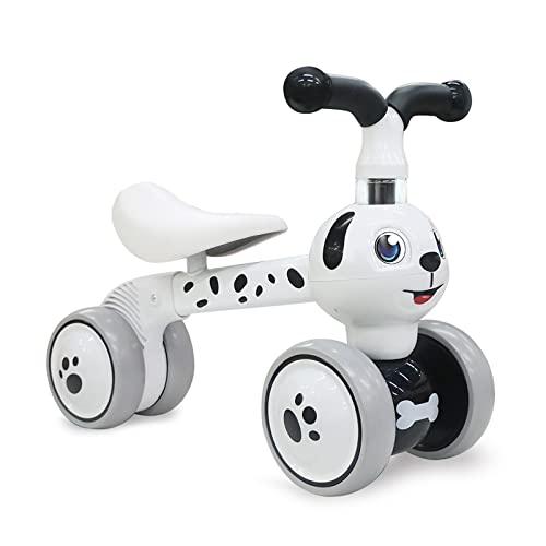 XIAPIA Bicicleta sin Pedales para Niños Bicicleta Bebe 1 Año Bicicleta Equilibrio 2 Año Bicicleta Infantil sin Pedales de Forma Animal Lindo de Abeja de Regalo Favorito del Niño (Perro)
