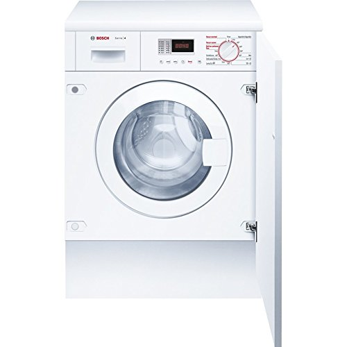 Bosch WKD24361EE Integrado Carga frontal B Color blanco lavadora - Lavadora-secadora (Carga frontal, Integrado, Color blanco, Izquierda, Botones, Giratorio, LED)