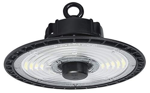 UFO - Lampada industriale con sensori a microonde, 200W, 30000 lm, 5700 – 6500 K, SMD2835, luce bianca fredda, IP65, angolo di diffusione 90°, lampada industriale per stadio, garage, cantiere