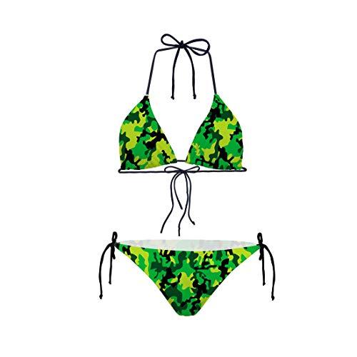 3D Drucken Bling Bling Muster Bikini Set Verband Halter Sexy Bikini Badeanzug Bade Strand Mini Badeanzug für Frauen Mädchen Tarnen S