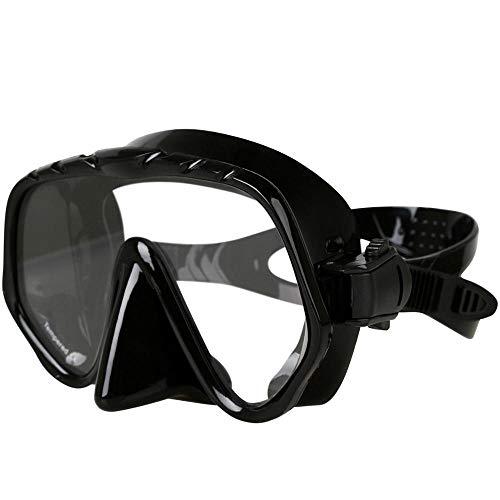 YWEHAPPY Copozz Brand Profesional Skuba Buceo Máscara Gafas Wide Vision Equipos para Deportes Acuáticos con Lente De Una Sola Pieza Antivaho Bajo El Agua Negro
