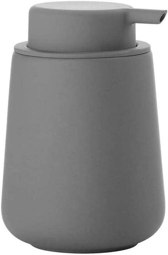 Dispensador de jabón,350ml Dispensador de jabón líquido,Dispensador de jabón de Manos de cerámica con portátil, Recargable,para baño, Hotel,Gris