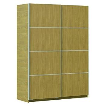 Armario ropero Roble de Puertas correderas, para dormitorios, 150x200 cm.: Amazon.es: Hogar