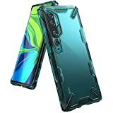 【Ringke】Xiaomi Mi Note 10 Mi Note 10 Pro Mi CC9 Pro ケース スマホケース [米軍MIL規格取得] クリア カバー 透明 ワイヤレス充電対応 ストラップホール 落下防止 Xiaomi Mi Note10 Mi Note10 Pro Mi CC9 Pro Fusion-X (Turquoise Green ターコイズグリーン)