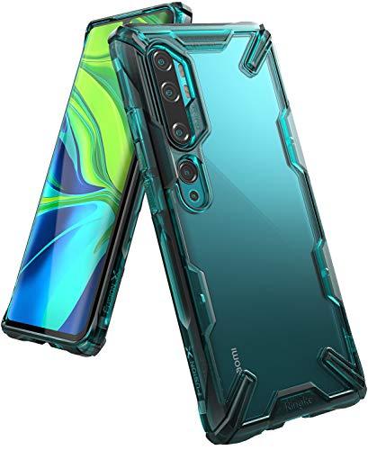 Ringke Fusion-X Kompatibel mit Xiaomi Mi Note 10, Note 10 Pro, Mi CC9 Pro Hülle, Transparente Hart Rückseite mit Flexibel Rahmen - Turquoise Green