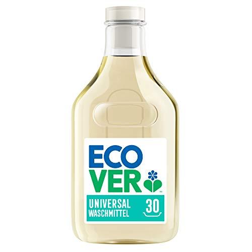 Ecover Waschmittel Universal Hibiskus & Jasmin (1,5 L/30 Waschladungen), ÖKO-TEST TESTSIEGER 07/2020, Flüssigwaschmittel mit pflanzenbasierten Inhaltsstoffen, pflegendes Vollwaschmittel