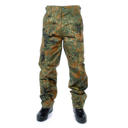 Mil-Tec, pantaloni sportivi US BDU, per il tempo libero, da pesca, da caccia, per attività all'aperto, pantaloni mimetici, taglie XS–7XL, Uomo, 11810021, flecktarn, XXL