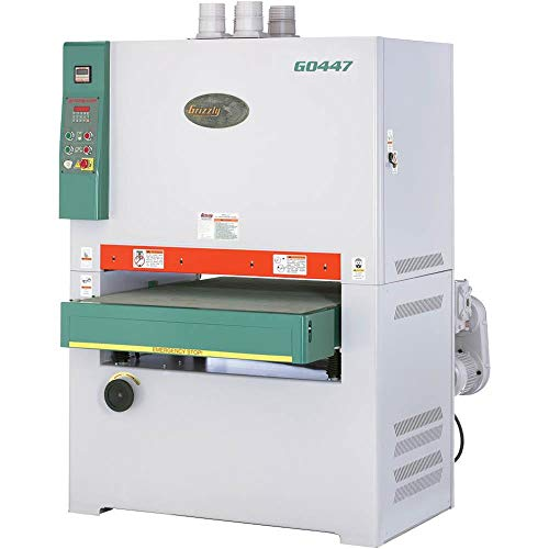 """Grizzly Industrial G0447-37"""" 20 HP 3-Phase Double Head Wide-Belt Sander"""