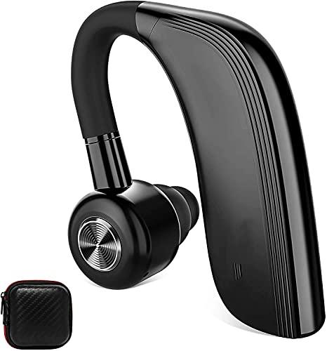 auricolari bluetooth orit Auricolare Bluetooth Singolo 25 Ore di Conversazione Cuffie bluetooth Wireless Mono con Microfono HD CVC6.0 Riduzione del Rumore 22 Ore di Riproduzione Supporto Siri Ruotabile 180° per Lavorando/Guida