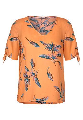 Cecil Damen Bluse mit Blättermuster Cantaloupe orange XL