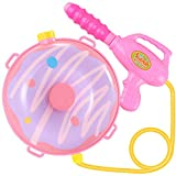 ZONESTA Backpack Water Gun for Kids Water Blaster Water Shooter Squirt Guns with Tank Lady Bug Toys for Kids- Summer Outdoor Toys for Pool Beach Water Toys for Kids Purple Potato Donut