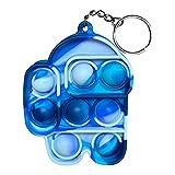 LAVONE Fidget Toys, Push Pop Bubble Fidget Sensory Toy, Push Pop Fidget Toy for Kids Adults, Silicone Stress Relief Toy -Mini Blue