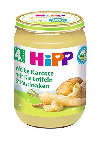 HiPP Gemüse Weiße Karotte mit Kartoffeln und Pastinaken, 6er Pack (6 x 190 g)