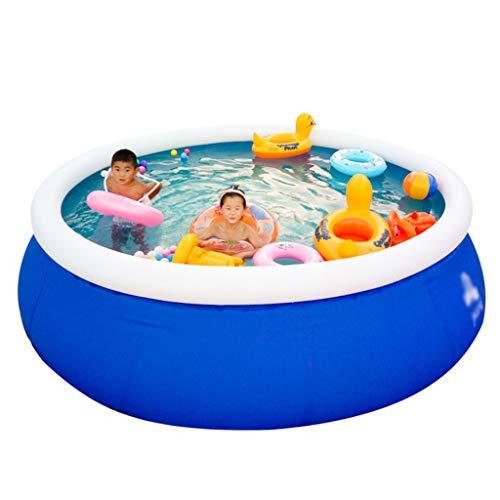 Familie Kinderzwembad met Zwembadafdekking en Antislijtkussen Rond Groot Buiten Opblaasbaar Zwembad - Meerdere Maten Mogelijk