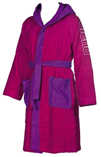 Arena Zebu Jr, Accappatoio Unisex Bambini, Multicolore (Rose Violet/Agata Violet), L
