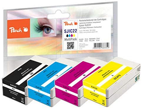 Peach Pack Ahorro de Cartuchos de Tinta compatibles con Epson SJIC22
