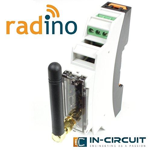 In-Circuit radino WiFi DinRail Adapter, radino Hutschienenadapter bestückt mit radino WiFi mit ESP8266EX