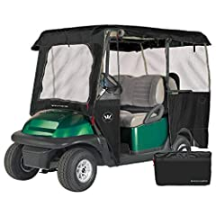 NEW! - Greenline now features DURAPEL yarn processing for improved performance and longer life - Protects golf carts from sun, weather damage and dirt - Heavy duty 300D Durapel denier polyester fabric UV water and mildew resistant fabric won't shrink...