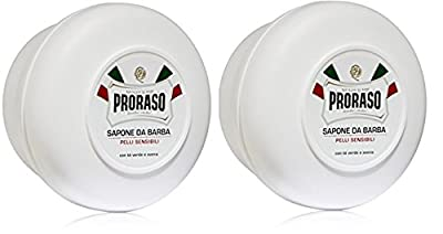Proraso Shaving Soap in a Bowl, White (2 PCs Offer)