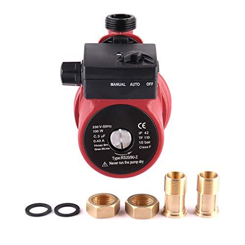 SHYLIYU Bomba de Circulación de Agua Bomba de Agua Caliente Casa Bomba de Refuerzo Automático Bomba de Escudo Utilizado Para el Hogar Lavadora Acuario Ducha etc100W/10bar 1800l / H 9m Altura