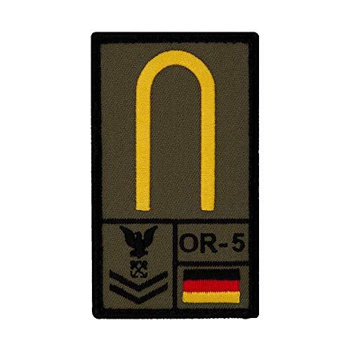 Café Viereck ® Maat Bundeswehr - Marine Rank Patch mit Dienstgrad - Gestickt mit Klett – 9,8 cm x 5,6 cm (Oliv)