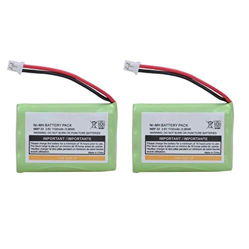 Grehod Batería de Repuesto MBP33 de 1100 mAh para Motorola MBP-33 MBP33S MBP36 MBP36S MBP36PU MBP43 CB94-01A Batería para Monitor de bebé 2Battery