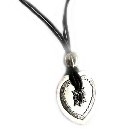 Les Trésors De Lily [D8880] - Halskette 'french touch' 'Antik' silberfarben.