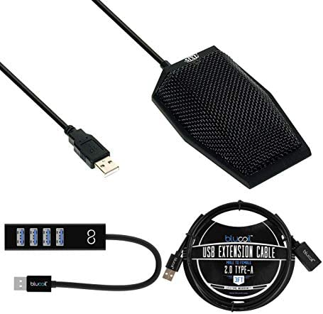 MXL AC404 USB Conference Microphone for Windows and Mac Black Bundle with Blucoil Mini USB Type product image