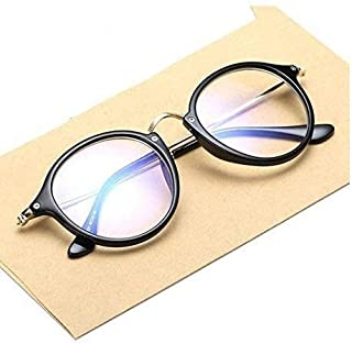 Mr. Brand UV Protected Transparent ROUND Glass Sunglasses For Unisex (Transparent Sunglass With Box)