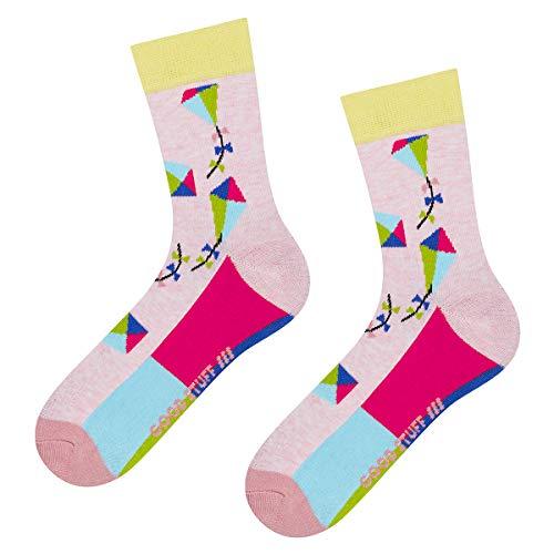soxo Damen Bunte Muster Socken   Größe 35-40   Motivsocken aus Baumwolle   Lustige Geschenk für Frauen (Drachen)