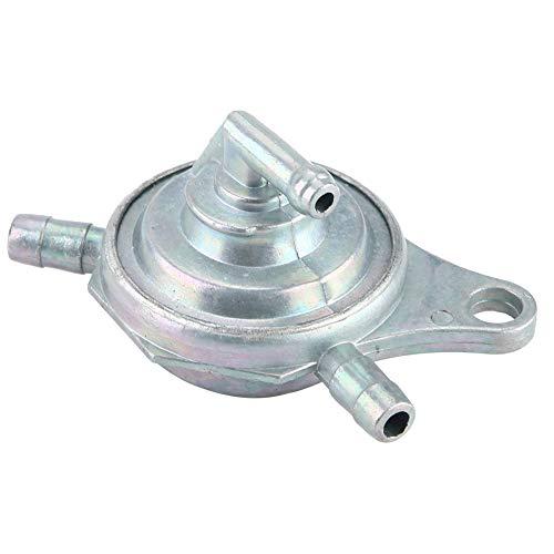 EBTOOLS Interruttore rubinetto valvola carburante/olio in alluminio a 3 fori per motore 50CC 125CC 150CC GY6