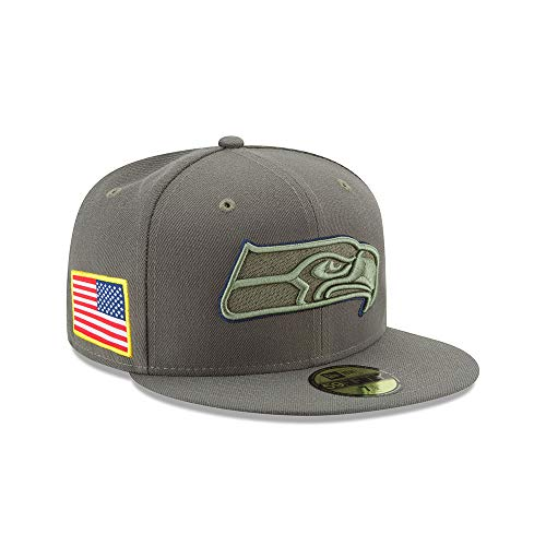 New Era 59Fifty Cap - Salute to Service Seattle Seahawks oliv , Gr. 7 1/2 - (59,6cm)