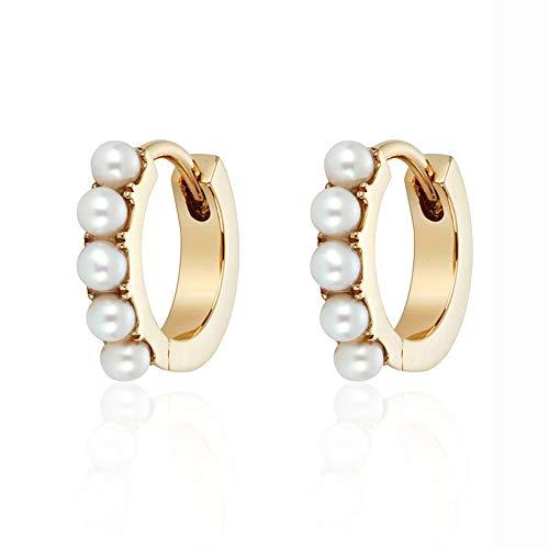 Brandlinger ® Atelier Creolen aus vergoldetem 925 Sterling Silber mit Opal oder Perlen