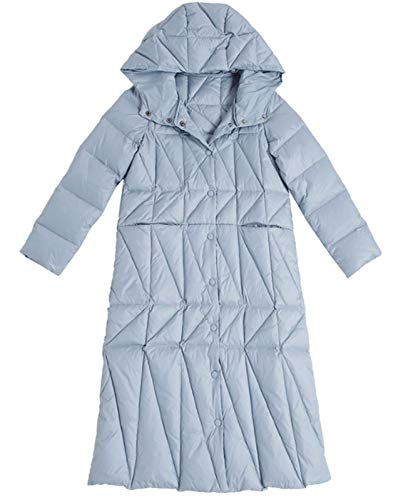 Faltbare Daunenjacke Winter-Langer Mantel, High-Taille Winter-koreanische Art-dünner...
